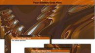 دانلود قالب پاورپوینت زیبای قهوه ای رنگ شیشه قدیمی مناسب جهت طراحی پاورپوینت