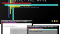 دانلود قالب پاورپوینت زیبای هنری سیاه و سفید مناسب جهت طراحی پاورپوینت