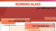 دانلود قالب پاورپوینت زیبای قرمز رنگ شیشه مذاب مناسب جهت طراحی پاورپوینت