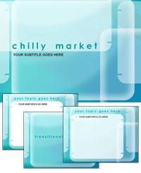 دانلود قالب پاورپوینت زیبای آبی رنگ بازار شیک مناسب جهت طراحی پاورپوینت