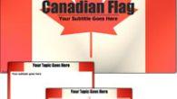 دانلود قالب پاورپوینت زیبای پرچم کانادا مناسب جهت طراحی پاورپوینت