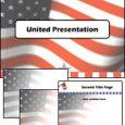 دانلود قالب پاورپوینت زیبای پرچم آمریکا شماره دو مناسب جهت طراحی پاورپوینت